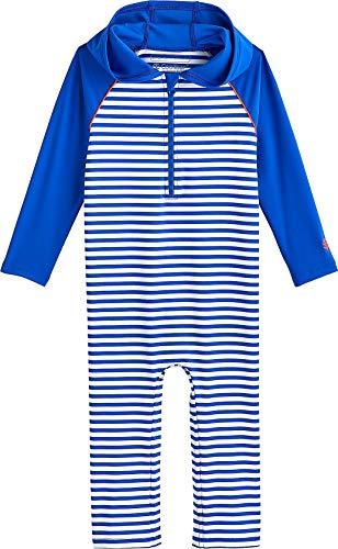 City Threads Boys and Girls SPF50 Hood Rash Guard Sun Swimming Tee Protection