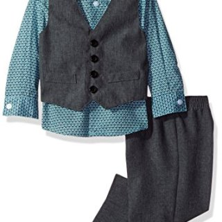 Van Heusen Baby Boys' 4-Piece Patterned Dresswear Vest Set