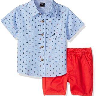 Nautica Sets (KHQ) Baby Boys 2 Pieces Shirt Shorts Set