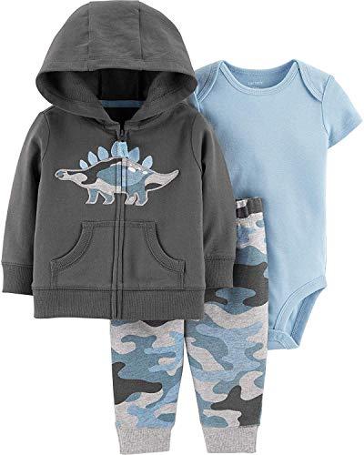 Carter's Baby Boys' Cardigan Sets (Newborn, Embroidered Dino)