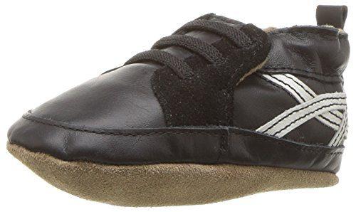 Robeez Boys' Soft Soles Sneaker Crib Shoe, Super Sporty-Black