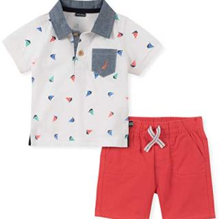 Nautica Sets (KHQ) Baby Boys 2 Pieces Polo Shorts Set