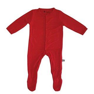 Kyte BABY Solid Footies (6-12 Months, Crimson)
