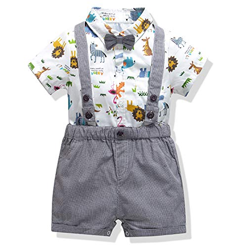Baby Boys Gentleman Romper Jumpsuit Overalls Rompers Set