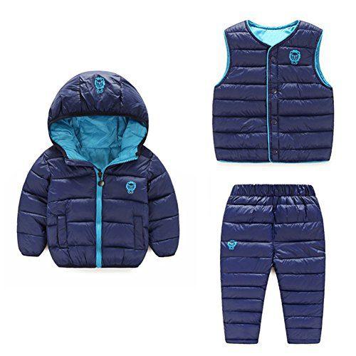Baby Boy Girl Winter Puffer Snowsuit Down Hooded