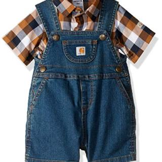 Carhartt Baby Boys 2-Piece Shortall Clothing Set