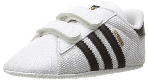 adidas Originals Baby Superstar Crib Running Shoe Black/White