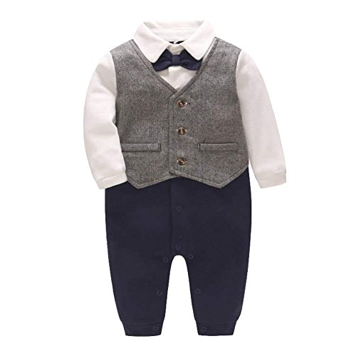 Fairy Baby Baby Boy Gentleman Outfit Formal Onesie Tuxedo Dress Suit