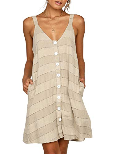 Asvivid Womens Casual Spaghetti Strap V Neck Sleeveless