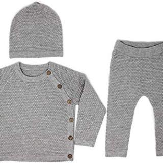Unisex Gray Baby Layette Set (3-6 Months)