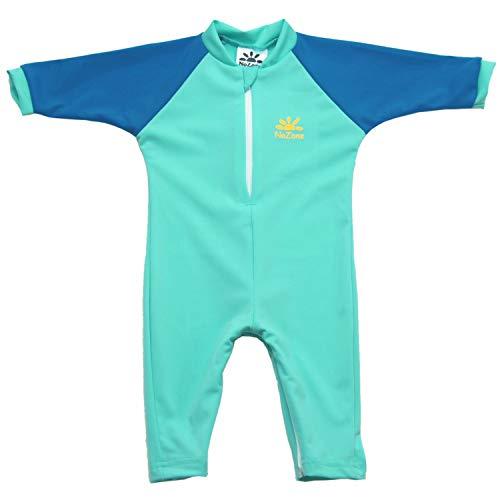 Nozone Fiji Sun Protective Baby Boy Swimsuit in Aquatic/Blue