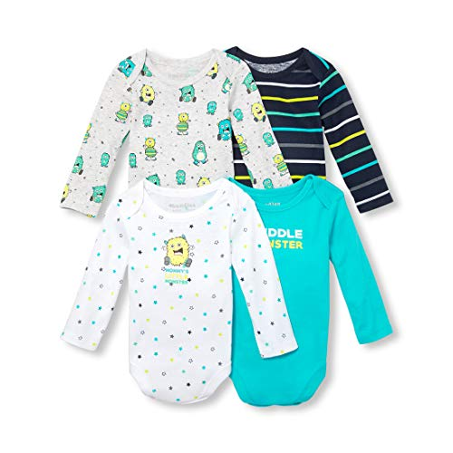 The Children's Place Baby Boys Monster Long Sleeve Layette Set