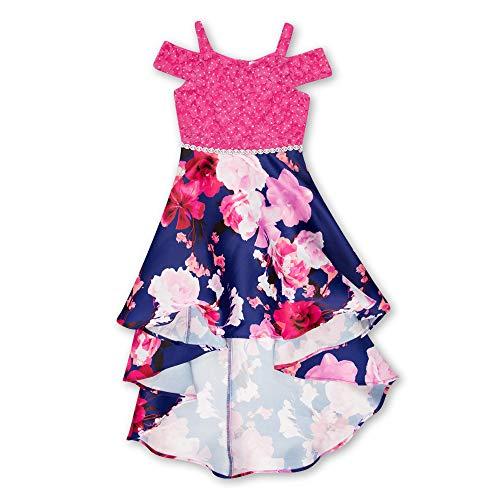 Speechless Girls' Big Shoulder High-Low Party Dress