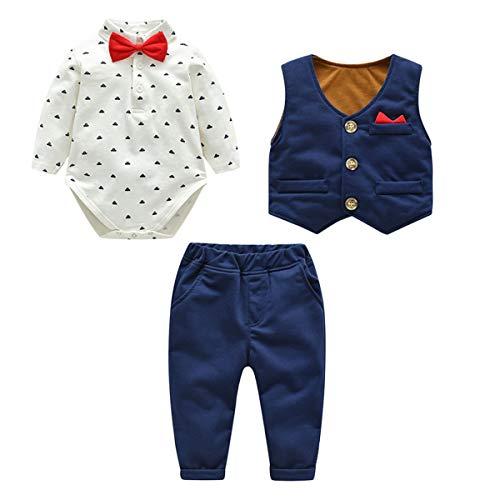 Kanodan Baby Boy Waistcoat Gentleman Suit Long Sleeve