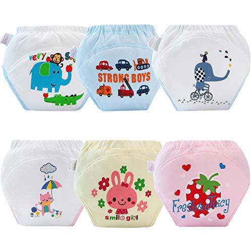 AUBIG 6 Pcs Training Diaper for Baby Boys Girls