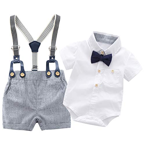 Newborn Baby Boys Gentleman Outfits Suits