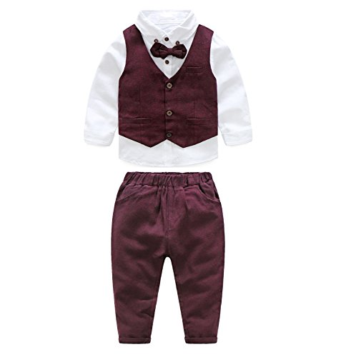 JIANLANPTT Gentleman Casual Suits Baby Boys Vest Pants Shirt Party