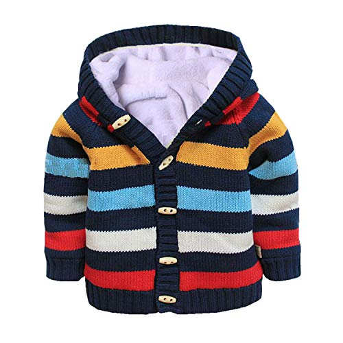 Baby Toddler Boys Girls Striped Long Sleeve Sweaters Cardigan