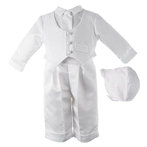 Lauren Madison baby boy Christening Baptism Infant Satin Vest Set