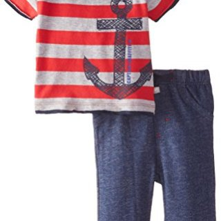 Petit Lem Baby Boys' Newborn Captain Graffiti 2 Piece Set