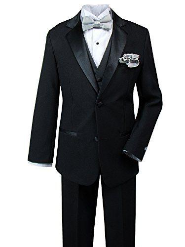 Spring Notion Big Boys' Tuxedo Set with Bow Tie