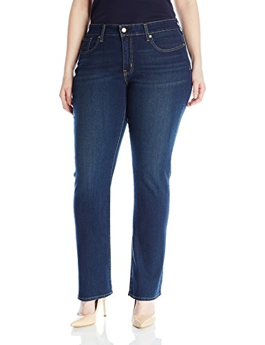 Signature by Levi Strauss & Co Women's Plus-Size Totally Shaping Straight Jeans
