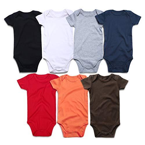 ROMPERINBOX Unisex Solid Multicolor Baby Bodysuits