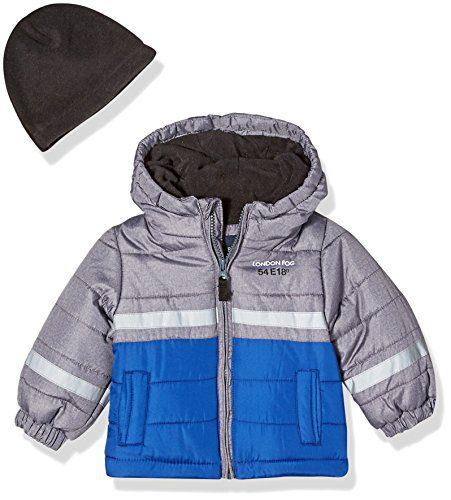 London Fog Baby Boys Color Blocked Puffer Jacket Coat