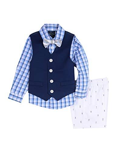 Nautica Baby Boys 4-Piece Formal Dresswear Vest Set with Bow Tie