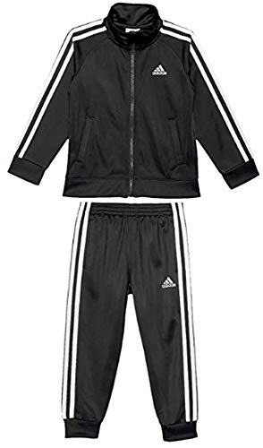 adidas Toddler Boys' Iconic Tricot Full Zip Jacket and Track Pant Set