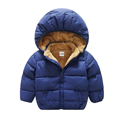 Baby Boys Girls Winter Puffer Coat Unisex Kids Fleece Lined Jacket