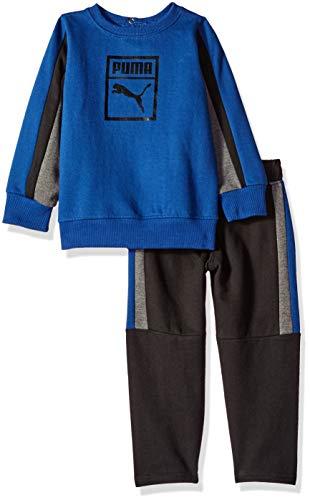 PUMA Baby Boys' Pullover Fleece Set, Sodalite Blue 24M