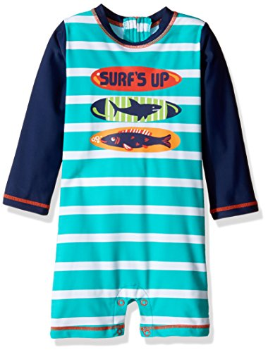 Hatley Boys' Baby Swim Shirt, Surfboards, 3-6 Months