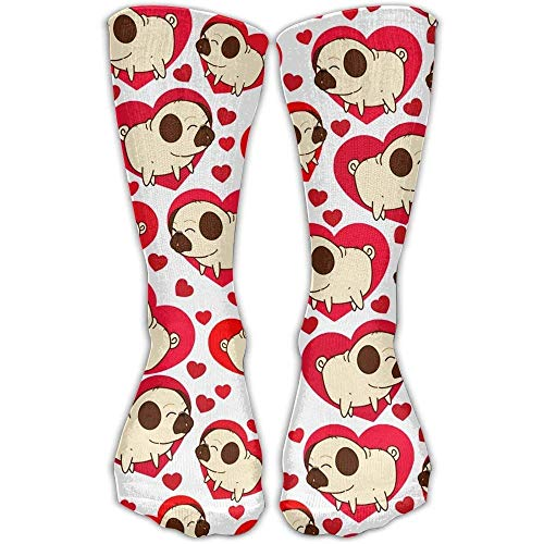 Snabeats Pink White Cute Alpacas Fashion Long Socks