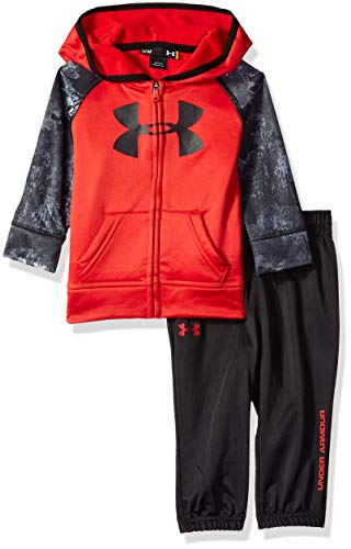 Under Armour Boys Track Set with Hood, red Bedrock