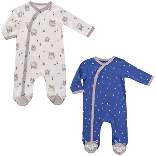 Asher & Olivia Baby Boys Twin Outfits Footed Pajamas Gift
