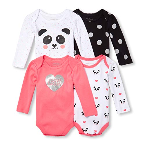 The Children's Place Baby Girls 4 Pack Bodysuits
