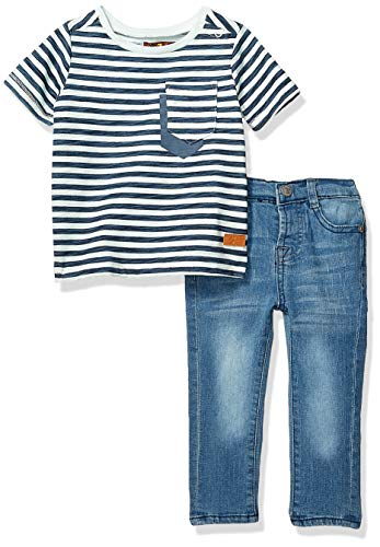 7 For All Mankind Kids Baby Boys Sleeve Textured Stripe T-Shirt