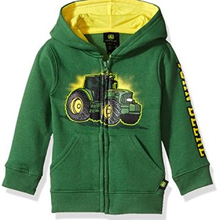 John Deere Tractor Infant Toddler Boy Zip Front Fleece Hoody Sweatshirt