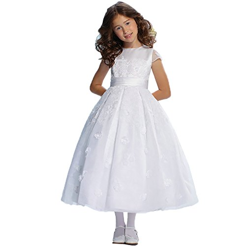 DZdress Kids Appliques Pageant Wedding Flower Girl Dresses