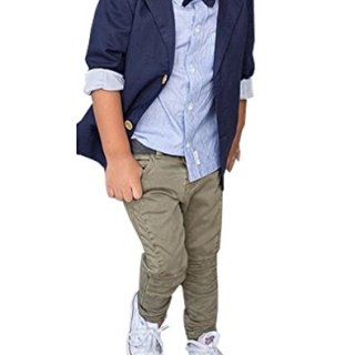 Kids Baby Boys Gentleman Sets jacket + shirt + pants 3pcs Leisure Suit