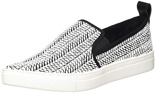 Dolce Vita Women's Geoff Sneaker Black/White Raffia