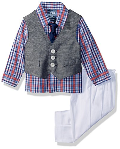 Izod Baby boys 4-Piece Vest Set with Dress Shirt
