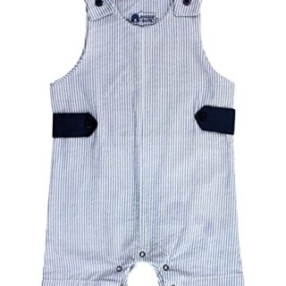 RuggedButts Baby/Toddler Boys Blue Striped Seersucker