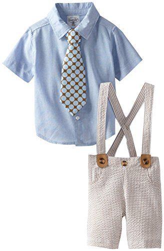 Mud Pie Boys Seersucker 3 Pc Suit with Clip Tie (2T)