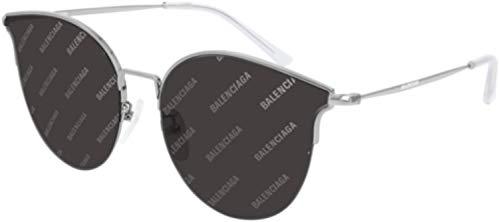Balenciaga Sunglasses 004 Silver/Grey Mirror Lens 61 mm