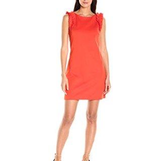 Trina Turk Women's Siena Tropical Ponte Ruffle Detail Dress