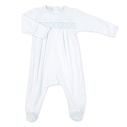 Magnolia Baby Baby Boy Mini Dot Essentials Smocked Footie Blue Newborn