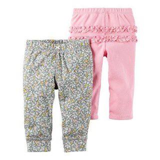 Carter's Baby Girls' 2-Pack Ruffle Pants Newborn