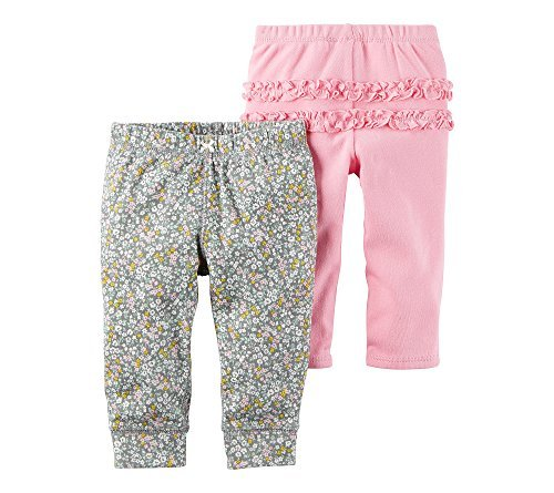 Carter's Baby Girls' 2-Pack Ruffle Pants Newborn